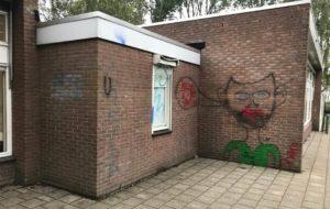 graffiti verwijderen van muur